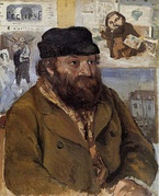 Camille Pissarro, Portrait of Paul Cézanne, 1874. National Gallery