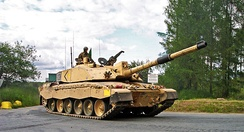 A Challenger 2 main battle tank of the Royal Scots Dragoon Guards