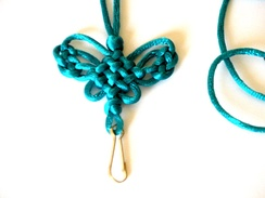 A Chinese butterfly knot lanyard with cross knots