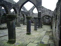 The old ruined church of Heptonstall.
