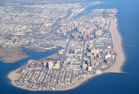 The Coney Island peninsula from the air