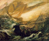 The Flying Dutchman by Albert Pinkham Ryder, c. 1887 (Smithsonian American Art Museum). The legend of the Flying Dutchman is likely to have originated from the 17th-century golden age of the VOC.