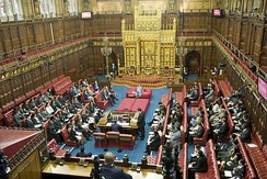 The House of Lords is a chamber mostly appointed by the Prime Minister, loosely based on the Lords' expertise, achievement, or political affiliation. Since the abolition of most hereditary peers, there has been ongoing debate about whether or how to elect the House of Lords.