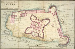 A map of James Island and Fort Gambia