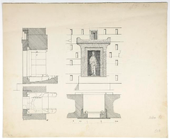 Vertical and horizontal cross sections of the structure