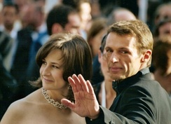 Valérie Lemercier and Lambert Wilson at the 2005 Cannes Film Festival