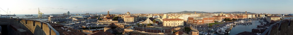 View of Livorno from the old fortress
