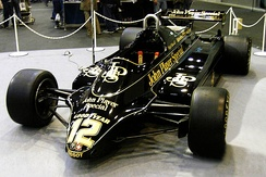 Mansell's Lotus 91 from 1982 on display