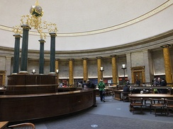 The central Wolfson Reading Room in 2014.