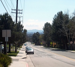 Southern Moreno Valley, viewed looking south down Kitching Street