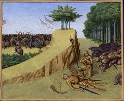 The death of the Frankish leader Roland defeated by a Basque and Muslim-Muladi (Banu Qasi) alliance at the Battle of Roncevaux Pass (778) originated the Kingdom of Navarre led by Íñigo Arista.