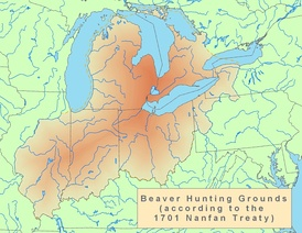 Beaver hunting grounds, the basis of the fur trade