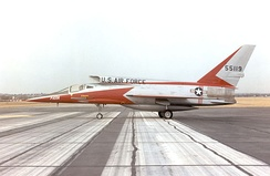 A side-view of North American F-107A #2 55-5119 at the NMUSAF.