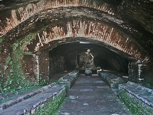 A mithraeum found in the ruins of Ostia Antica, Italy.