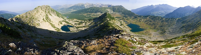 A panoramic view of Pirin