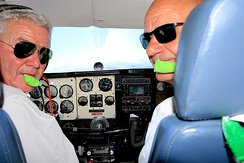 Private pilot and passenger in a Beechcraft A36 near Spiegelberg, Namibia (2016)