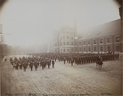 Queen's Own Rifles at Toronto Armories (HS85-10-12532)