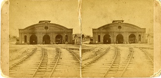 Railroad in Macon, Georgia circa 1876