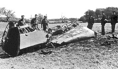 Rudolf Hess, Deputy Führer of Nazi Germany, crashed his plane at Bonnyton Moor in the Scottish central belt in an attempt to make peace