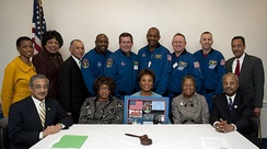 Barbara Lee meets with NASA Administrator Charles Bolden and the STS-129 space shuttle crew