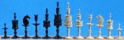 Неизвестный мастер начала XIX века, Германия. Лунные шахматы. Schaakmuseum Max Euwe-Centrum