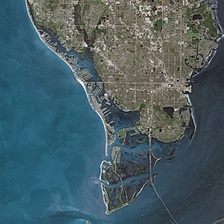 St. Petersburg seen from Spot satellite