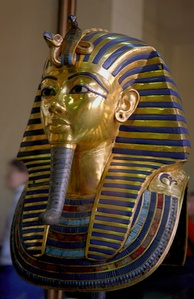 The golden funerary mask of Tutankhamun, Egyptian Museum of Cairo