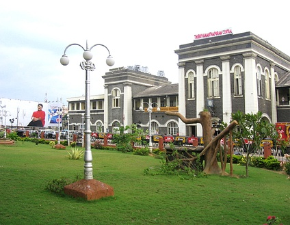 The main Portico of the Thiruvananthapuram Central Railway Station