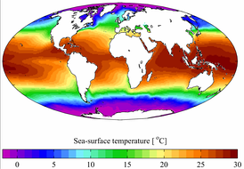 Среднегодовая температура поверхности Мирового океана