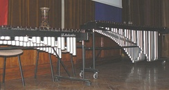 Orchestral xylophone (left) and marimba (right)