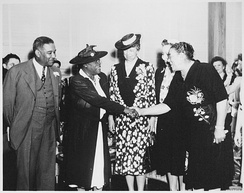 Roosevelt and Mary McLeod Bethune, a member of Franklin D. Roosevelt's Black Cabinet, 1943