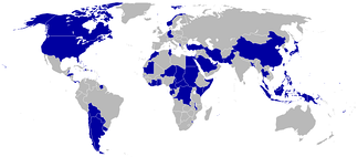 Countries boycotting the 1980 Games are shaded blue