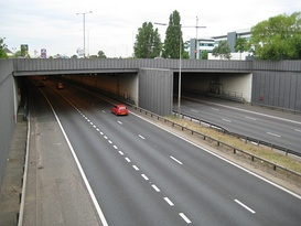 The northern portal of the Hatfield Tunnel