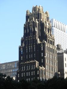 The American Radiator Building in New York City by Raymond Hood (1924)