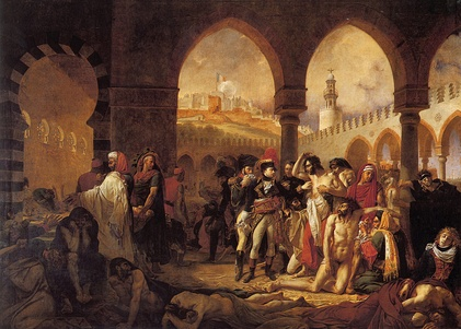 General Bonapartre visits a plague hospital in Jaffa (March 31, 1799). Antoine-Jean Gros, Louvre Museum