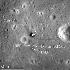 Tranquility Base, imaged in March 2012 by the Lunar Reconnaissance Orbiter