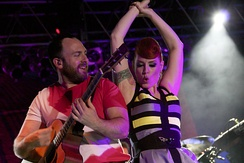 "Babydaddy and Ana Matronic performing in Kansas City on the 2012 ""Magic Hour"" tour."