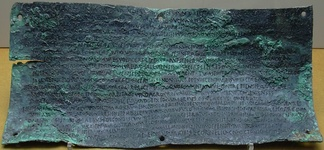 The second of the four Botorrita plaques. The third plaque is the longest text discovered in any ancient Celtic language.[53]
