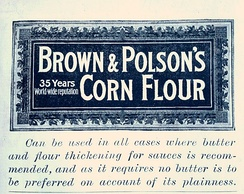Advertisement for Brown & Polson's, 1894