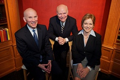 Founder Brian Lamb in 2012 flanked by co-CEOs Rob Kennedy and Susan Swain