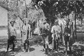 Angklung Players in Garut, West Java, before 1904