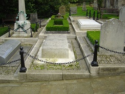 Churchill's grave at St Martin's Church, Bladon.