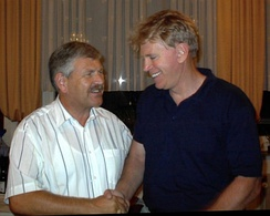 David Duke (right) and Udo Voigt (left), the former leader of the National Democratic Party of Germany (NPD)