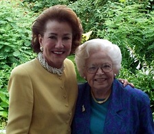 Elizabeth Dole with friend and mentor Virginia Knauer. Mrs. Knauer ran the White House Office of Consumer Affairs in the Nixon Administration, where Dole served as a deputy assistant to the President.