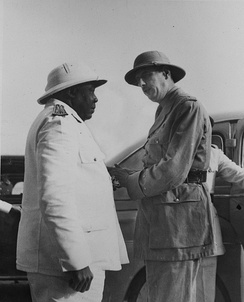 De Gaulle meeting Félix Éboué in Chad