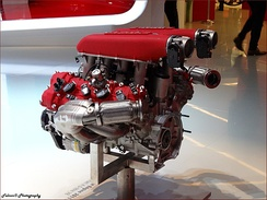The F136 V8 engine used in the 458