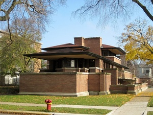 The Robie House by Frank Lloyd Wright, Chicago (1909)