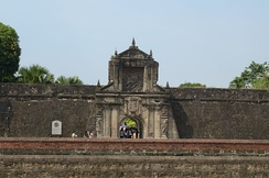 Gate of Fort Santiago at the historic walled area of Intramuros, City of Manila. (2013)