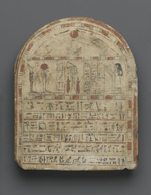 Egyptian grave stela of Nehemes-Ra-tawy, ca. 760–656 BC