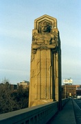 Guardians of Traffic pylon on Hope Memorial Bridge in Cleveland (1932)